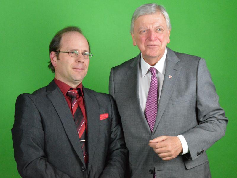 Bürgermeisterkandidat Michael Börner und Ministerpräsident Volker Bouffier